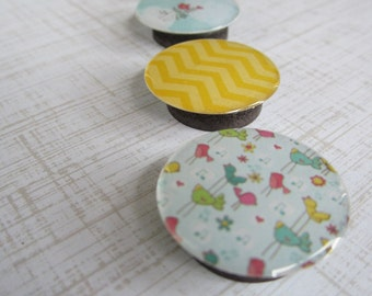 Set of 4 Magnets. Mostly Sunny
