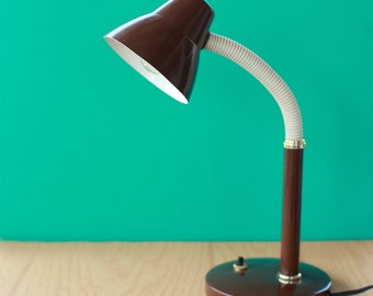 Mid Century Modern Industrial Metal Bendable Desk Lamp Super Cute and Works