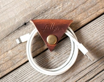 """Leather Cord Keeper // """"the cordita"""" by fullgive in english tan"""