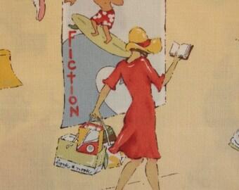 ALEXANDER HENRY FABRIC Summer Fiction Nicole de Leon Rare - 1 Yard Very Rare - #M30