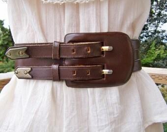 Leather Belt Cinch Belt S / M