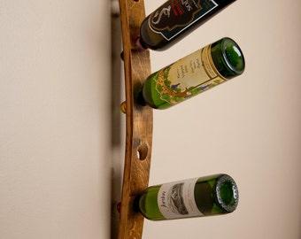 Single Stave 6 Bottle Wall Wine Rack