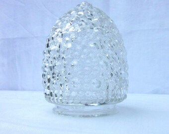Vintage Glass Lamp Shade Acorn Light Globe Art Deco Bumpies Bubble Glass