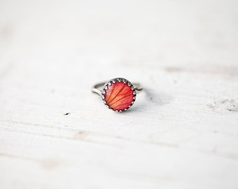 Rose ring - Flowers petal jewelry - Silver ring - Bloom collection by BeautySpot (R070)
