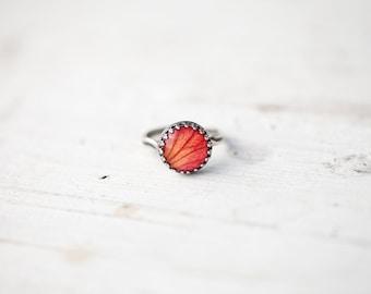 Rose ring - Flower ring - Silver ring - Adjustable ring - Flower jewelry - Flower petal ring - Rose jewelry - Cocktail ring (R070)