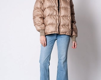 The Vintage Tan Quilted Down Jacket