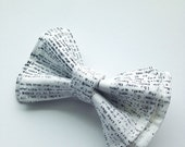 Newsprint Bow Tie,  Doctor Who Baby, Bow Tie, Bow Ties Toddler, Newborn Bow Tie, Doctor Who, Bowtie, Boys Bow Tie