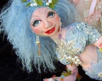 "21"" Cloth Art Doll (E-Pattern) ""Crystal Mermaid Of The Lake"" By Caroline Erbsland"