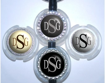 Stethoscope Id Tag - Monogram Stethoscope Tag in 5 Colors, Bottle Cap Stethoscope Id (A030)