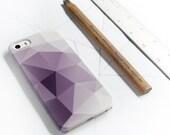 iPhone 6 Case Geometric iPhone SE Case, Purple Modern iPhone 5S, 5C Case, Abstract iPhone 6S Case, iPhone 6 Plus Triangles