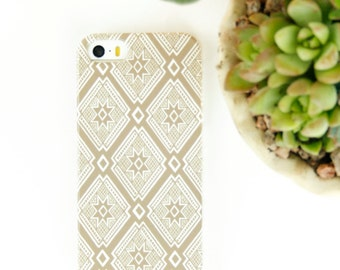 iPhone 6 Case Tribal iPhone 5S Case, Gold Geometric Pattern  Case, Aztec 6S Case - iPhone Cases, iPhone 6 Plus Case