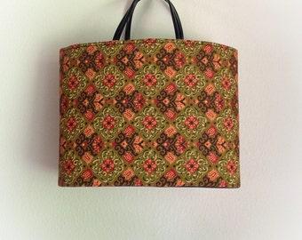 Vintage 1970s Kaleidoscope Pattern Purse Handbag