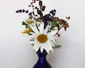 Small Pottery Vase, Bud Vase, Handmade Pottery, Handthrown Pottery, Studio Ceramics, Mommy Pot, Blue