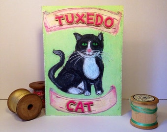 Black and White Cat - Tuxedo Cat - Tuxedo Cat Greeting Card - Cat Love - Cards For Cat Lovers