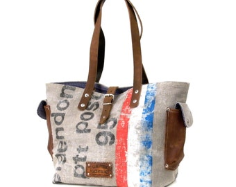 Dutch Postbag Handbag // Recycled and Handmade by peace4youBAGS - Model mimi-2171