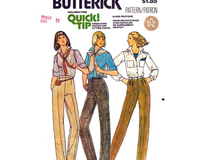 Womens Pants Pattern Butterick 6316 Straight Legged Trousers Sewing Pattern Waist 28