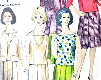 Vogue Special Design 4303 Separates Vintage Sewing Pattern 1950s 50s Skirt Jacket Blouse   Bust 32