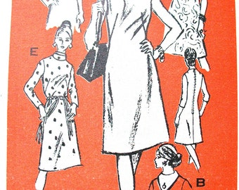 Prominent Designer M288 Mr. Blackwell  Vintage Sewing Dress Pattern Uncut Factory Folded Keyhole Neckline  Bust 38