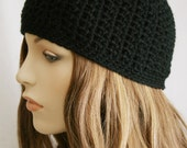 Girls Slouchy Hat or Womens Skull Cap Fitted Beanie for Women Men or Teens Unisex Hat Black Hat Skater Boy Spring Beanie or Pick Your Color
