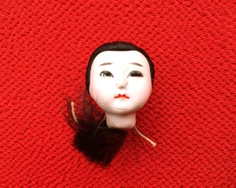 Japanese Doll Head - Vintage Doll Head -  Girl Doll Head - Small Doll Head - Woman Doll Head  No.2 Small Size