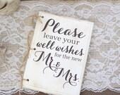 Rustic Wedding Guest Book Hipster Bridal Shower Keepsake Typography (Item Number MMHDSR10060)