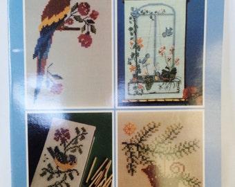 charted bird designs, cross stitch birds, cross stitch pattern, bird patterns, birds to sew, bird embroidery