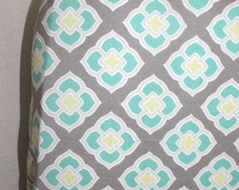Crib Sheet Grey Aqua White Custom Crib Bedding Choose Your Fabrics