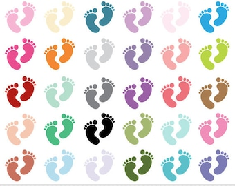 Baby Feet Clipart Footprints Clipart Baby Shower Clipart