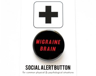 MIGRAINE BRAIN Headache Button