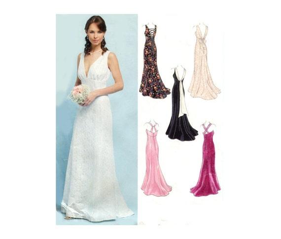 Empire waist wedding gown pattern evening by prettypatternshop for Empire waist wedding dress patterns