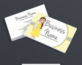 Business Card Designs - 2 Sided Printable Business Card Design - Character Four - Graceful and Charrming