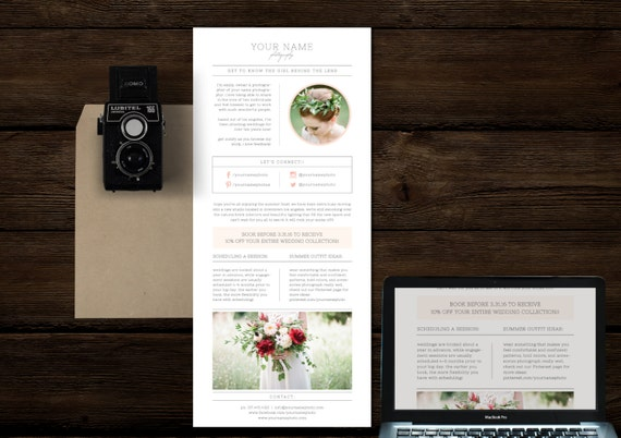 newsletter template for photographers by designbybittersweet. Black Bedroom Furniture Sets. Home Design Ideas