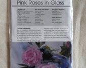 Authentic Bob Ross How-to painting Kit, Floral, Pink Roses in Glass