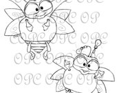 Digital Stamp Lightning Bug Buddies