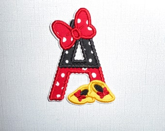 Free Shipping Magical  Shoes Letters A - Z bows and Shoes Fabric Iron on applique