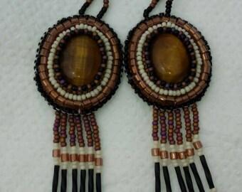 Special order.  Native American tiger eye earrings