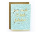 29/Fabulous - letterpress card