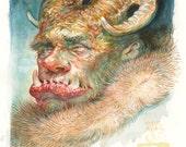 Ogre in Furs - original painting