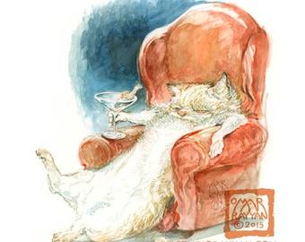 Cat-a-tonic (print)