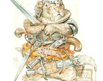 Combat Wombat (print)