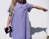 Girl's A Line Dress Age 6 Blue Checked