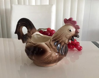 SALE Vintage Rooster Creamer or Small Pitcher -- Mid Century -- Retro Home