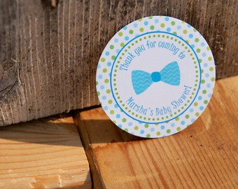 Little Man Baby Shower tags  - bow tie - by Just Scraps N' Things