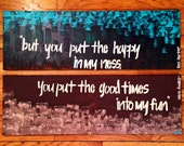 "SPRING SALE: Ben Harper lyrics // Large 20"" x 30"" canvas' // Acrylic Brown and Green paint for your HOME"