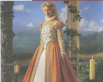 Elizabethan Gown, Farthingale Sewing Pattern Plus Size 14, 16, 18, 20 Simplicity 8881, Uncut, Court Dress, Renaissance Faire Costume