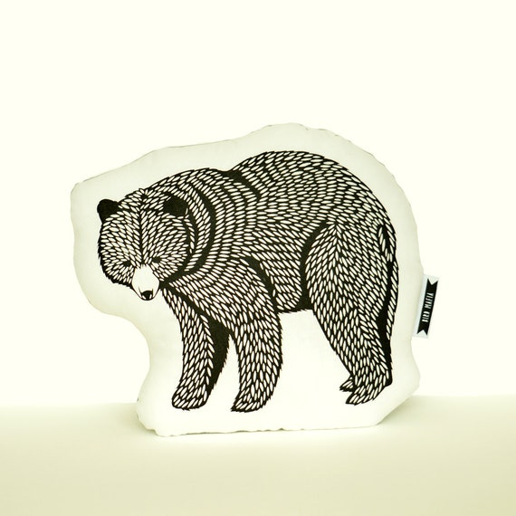 Animal Pillows : bear plush black bear pillow animal pillows paper cutting