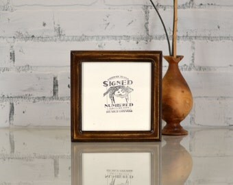 6x6 inch Square Picture Frame in Double Cove Style and in COLOR of YOUR CHOICE - Handmade 6 x 6 Gallery Photo Frame