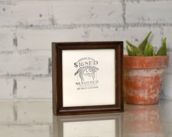 """5x5"""" Square Picture Frame in Foxy Cove Style and in COLOR of YOUR CHOICE -  Handmade 5 x 5 Photo Frame"""