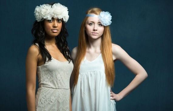 Bridesmaid Headpiece, Bridal Headpiece, Flower Headband, Fabric Flower Crown, Wedding Flower Crown, Bridesmaid Hairpiece, Custom Hairpiece