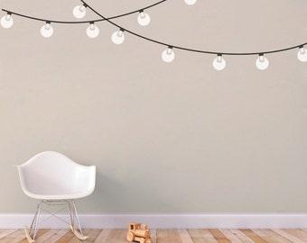 String Globe Lights - Printed Wall Decal